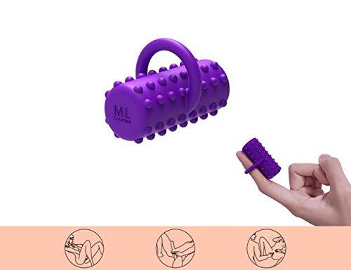 Super Love Frauen Leistungsstarke Mini Massager Finger Massieren Ring Finger Vibe Mini Körper Massager Wiederaufladbare mit 10 Frequenz Wasserdicht (Körper Massager Vibe)