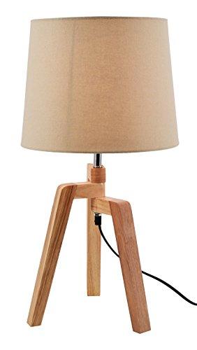 Moycor Kilat Lámpara de mesa con pantalla 3 patas, Natural y ...