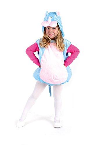 Oh2001-104-110 türkis-rosa Kinder Nashorn Weste Kostüm - Kind Nashorn Kostüm