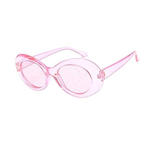 GJYANJING Sonnenbrille Sonnenbrille Frauen Vintage Oval Brille Glitter Linsen Eyewear Für Männer Marke Designer Candy Rot Rosa Gelb Sonnenbrille