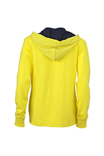 James & Nicholson Urban Sweat Sweat-Shirt Yellow/Navy
