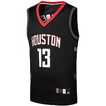 Basport Conjunto de Traje de Baloncesto NBA Rockets No. 13 Bordado Harden Jersey para Hombre