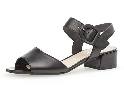 Gabor Damen Sandaletten 21.702.27, Frauen Sommerschuh,Sommersandale,bequem,flach,schwarz,40.5 EU / 7 UK (Größe 7 Schwarz Flache Schuhe)