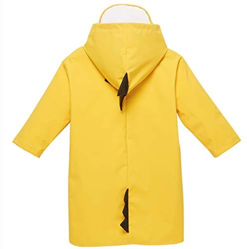 Goquik Regenjacken wasserdichte Regenjacke für Kinder, Jungen und Mädchen, Kinder 1-6 Jahre Poncho 100% wasserdichter dünner Schnitt (Size : XXL)