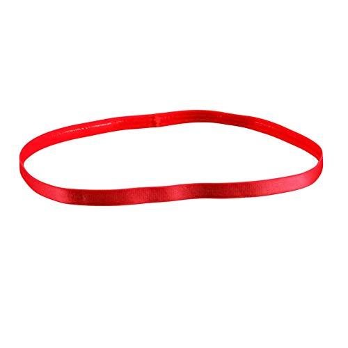 KaariFirefly Damen Herren Candy Color Sport Laufen Anti-Rutsch Elastisches Stirnband Haarband Haarband Einheitsgröße rot