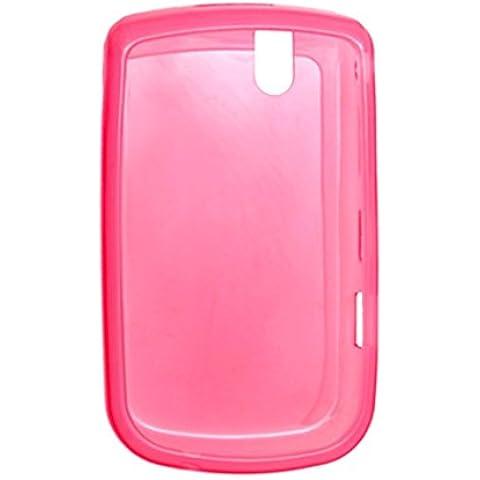 Caso rosado suave protector de plástico de la cubierta para Blackberry 9630