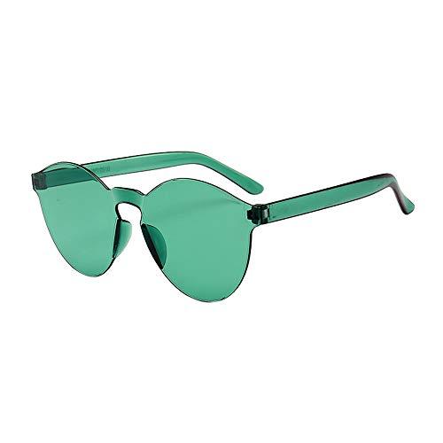 WooCo Schlussverkauf! Randlose Retro Sonnenbrille für Damen und Herren, Brillen Brillen Brillen Klarglas Candy Farbe Brille (C,One size)