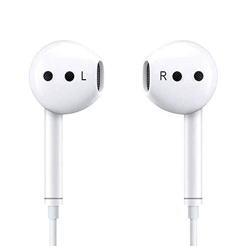 Luvfun Audio In Ear Kopfhörer, Wasserdicht Sport Kopfhörer mit Mikrofon, Stereo Bass Technologie Kopfhörer 3,5 mm Klinkenstecker - Weiß Audio-kopfhörer