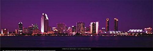 1art1 39797 Christian Michaels - San Diego Skyline Poster Kunstdruck 95 x 33 cm -
