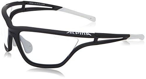 Alpina Sonnenbrille Performance EYE-5 VL+ Sportbrille, Black Matt-White, One Size