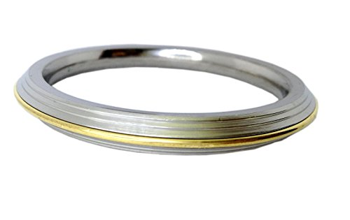 Brass and Stainless Steel Punjabi Bracelet Bangles Kada for Men (Internal diameter: 7.2)