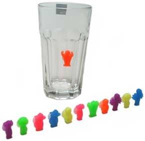 12 Stück Glasmarkierer Set Glasmarkierungen Glasmarker Glas Gläser markieren Markierung Anhänger...