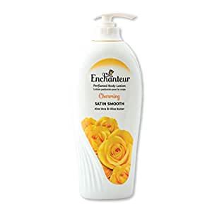 Enchanteur Charming Perfumed Body Lotion, 500ml, with Aloe Vera & Olive Butter for Satin Smooth Skin