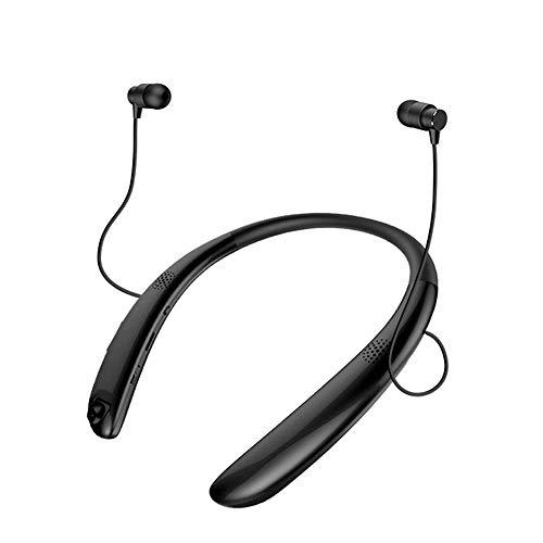XH&XH Bluetooth-Headset, kabelloser Headset-In-Ear-Kopfhörer, Bluetooth 4.2-Ohrhörer für Training Fitness und Reisen, Wasserdichtes IPX5 / CVC 6.0-Rauschunterdrückungsmikrofon/HiFi-Stereo,Black (Kabelloser Kopfhörer Für Läufer)