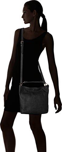 Fred de la Bretoniere - 232010008, Borse a spalla Donna Nero (Black)