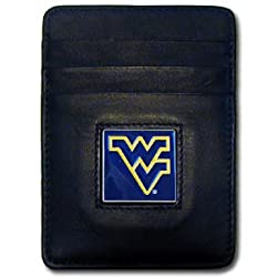 NCAA West Virginia Mountaineers Leather Money Clip/Cardholder