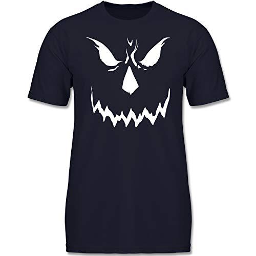 Anlässe Kinder - Scary Smile Halloween Kostüm - 116 (5-6 Jahre) - Dunkelblau - F130K - Jungen Kinder T-Shirt