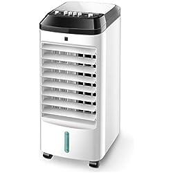 NBgy Climatiseur Portatif, Réfrigérateur Domestique À Double Cœur Climatisation Ventilateur Dortoir Ventilateur Individuel Petit Climatiseur Mobile, 2 Styles, Blanc, 60x26x23cm