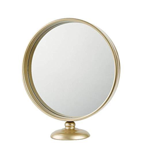 Kosmetikspiegel mit Ständer, Metallrahmen Moderner hochauflösender Schminktisch Vergrö�