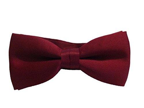 evaloude Vorgebundene Fliege von Dr. Who Kastanienbraun/Burgunderrot verstellbar Kostüm, Abschlussball, Party, Abendkleid, Einheitsgröße