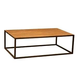 Hanjel - Table Basse Industrielle New York Epuise - Marron