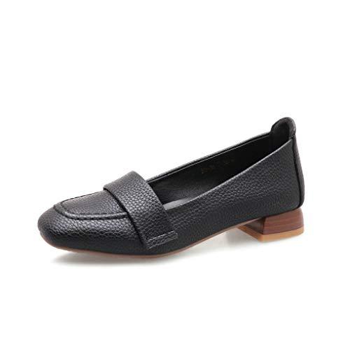 Frauen Loafers Schuhe Square Toe Slip auf Chunky Heel Elegant Casual Ladies Pumps Square Toe Slip