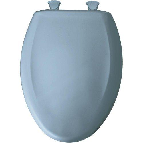 Länglich Wc-sitz Bemis (Bemis 1200SLOWT 034 Slow Close Sta-Tite Elongated Closed Front Toilet Seat, Sky Blue by Bemis)