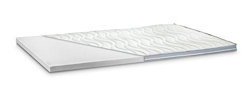Kaltschaum Topper Matratzenauflage | 7 cm Gesamthöhe | abnehmbarer und waschbarer Bezug | Bezug mit 3D-Mesh-Klimaband und Stegkanten | H3 - fest | 140 x 200 cm