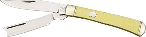 Rough Rider - Taschenmesser - Länge Geschlossen: 10.48 cm - Razor Trapper - Griff: Glatte gelbe KunststoffGriff -