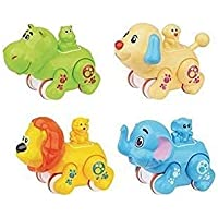 KEVIL Toys Baby Cars Toy for 1 Year Old Boy, Toddler Push Go Toy Wind Up Cars Unbreakable Colourful Press and Go, Pull…