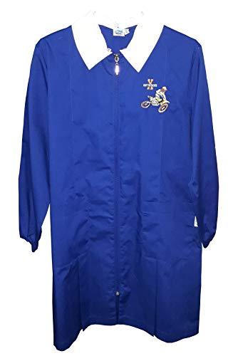 Siggi grembiule con cerniera scuola elementare bambino 33gr3322 blu 6-7-8-9-10-11-12-13-14-15 anni (tg 90 anni 11/alt. cm 146)