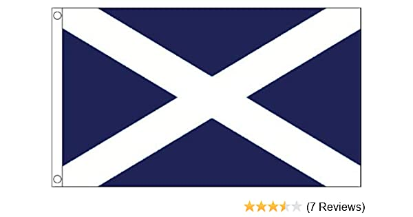Scotland 5ft X 3ft Flag 75denier with eyelets suitable for Flagpoles
