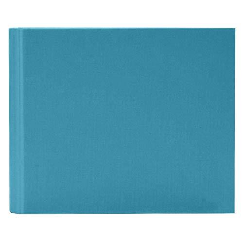 Goldbuch Foto-Gästebuch mit verdeckter Spirale, Linum, 29 x 23 cm, 50 weiße Blankoseiten, Leinen, Türkis, 47918 -
