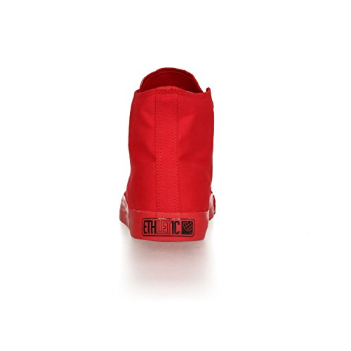 Ethletic Sneaker Monochrom vegan HiCut - Farbe cranberry aus Bio-Baumwolle Größe 40 - 4