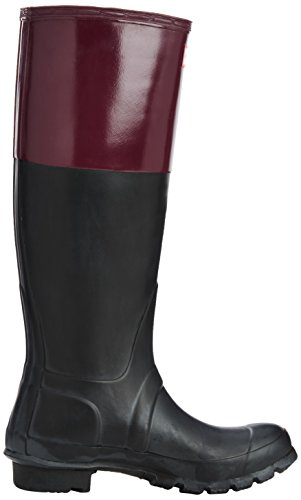 Hunter Original Colourblock Damen Stiefel Multicolor (Black/Dark Ruby)