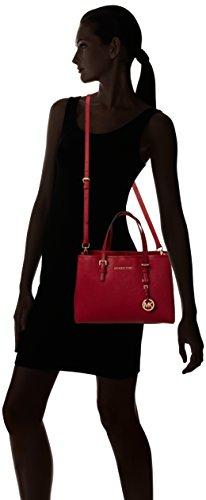 5f82a047de0a ... Michael Kors Women's Jet Set Travel Saffiano Leather Medium Tote Red ( Cherry) · Previous · / Next
