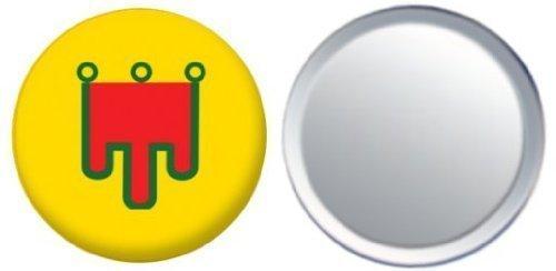 Miroir insigne de bouton France Auvergne drapeau - 58mm