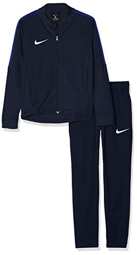 Nike Kinder Academy 16 Youth Knit Tracksuit Trainingsanzug, blau (Obsidian/deep royal Blue/White), XL -