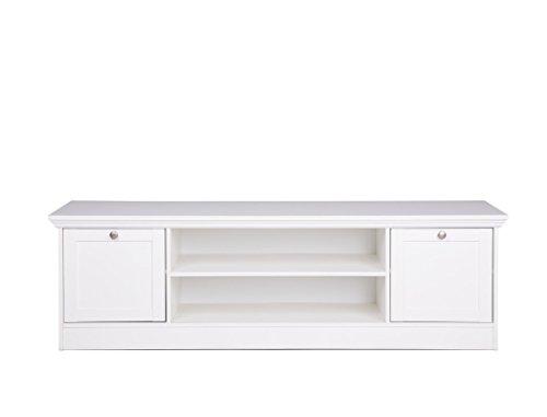 Wohnwand Landström 150 weiß 3-teilig Lowboard Vitrine Bücherregal Medienwand Wohnzimmer Landhausmöbel