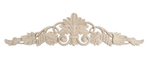 3-7/8 in. x 16-1/8 in. x 1/2 in. Unfinished Hand Carved Solid American Hard Maple Wood Onlay Grape Vine Wood Applique by Architectural Products by Outwater Vine Maple