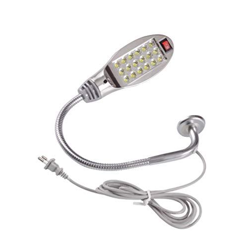 Tragbare Lichtmaschine 12LED der Nähmaschinen-LED, magnetische Sockel-Schwanenhals-Lampe für alle Nähmaschine - Weiß EU -