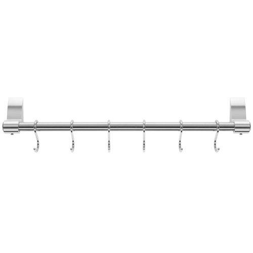 Stellar 6-Hook Hanging Rack, Silver, 42 cm