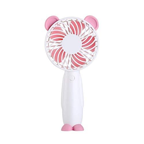 SCDFS Der Neue aufladbare belaubte Fan-Desktop der Karikatur beweglicher Minilüfter Hand-USB-elektrischer Fan Rosa 183 * 88mm (Desktop-ventilator Vornado)