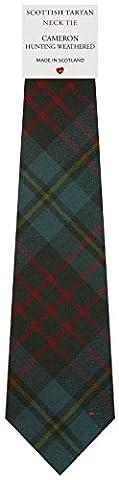 Mens All Wool Tie Woven Scotland - Cameron Hunting Weathered Tartan