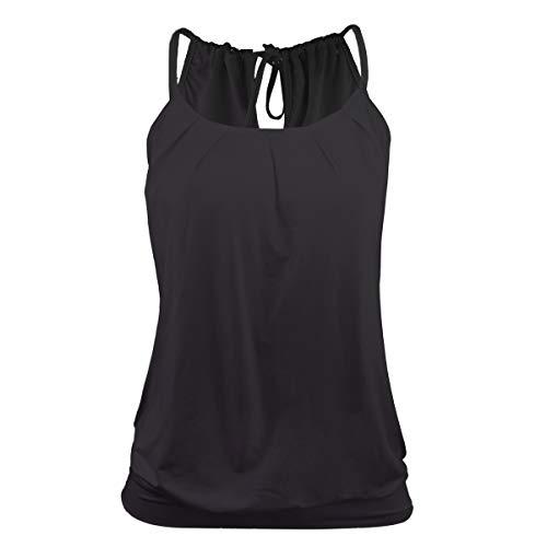 Stynice Top Damen Sommer Ärmellose T Shirt Oberteile Elegant Bluse Tank Top Losen -