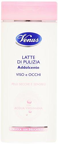Venus - Latte di Pulizia, Addolcent, per Viso e Occhi, con Acqua Virginiana - 200 ml
