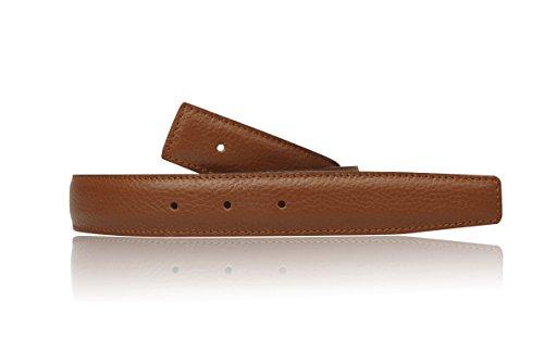 Cognac Wendegürtel in echt Leder für Herren & Damen 31mm Breiter Gürtel in Braun (100 cm)