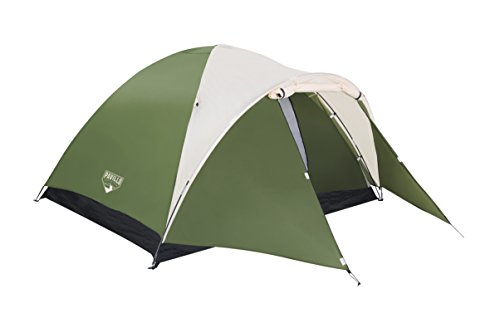 Bestway best way tenda montana 4 adulti 210x240x130, estensione cm 100, bistrato 161 unisex, verde