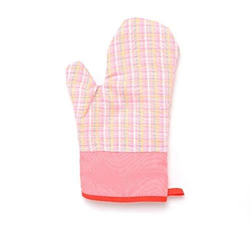 FORHOME 2 stücke Grill Topflappen Grill Hausmannskost Isolierung Ofen Baumwolle Handschuh Backformen Hitzebeständige BBQ Mitt Küche Backhandschuh, Rosa