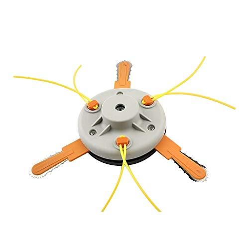 Yue668 1Pcs Universal Trimmer Head Line Gerade Welle + 3PcsLanglebige Metallklinge Für Husqvarna, Rasentrimmer Ersatz Zubehör Für Roybi M10x1,25 - Gas Line Trimmer
